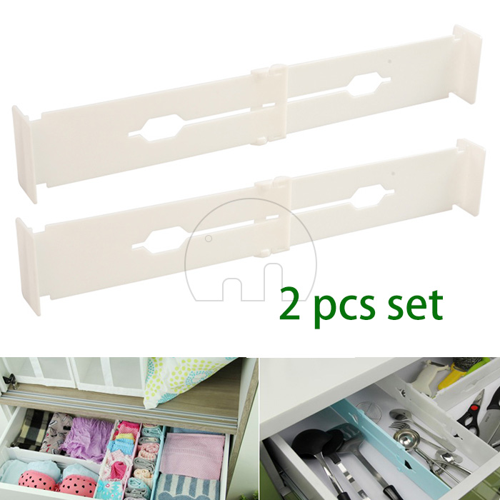 2pcs adjustable stretch drawer divider organizer t i dy bedroomkitchen